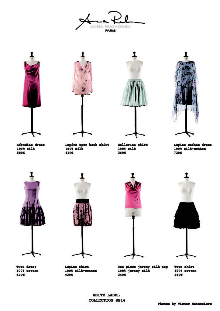 Collection printemps/été 2014 d'Anna Ruohonen