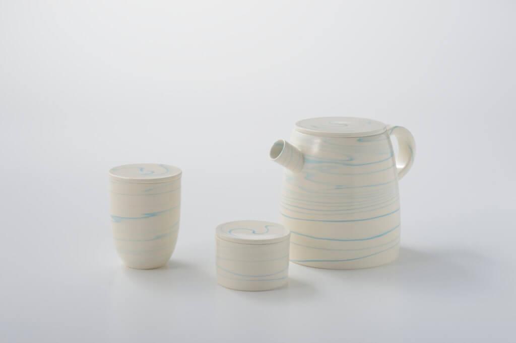 Set pour le thé du céramiste Tachikichi, réalisé avec Judith Bourdin et Arthur Leitner