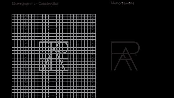 Construction Monogramme RE ACTIVE