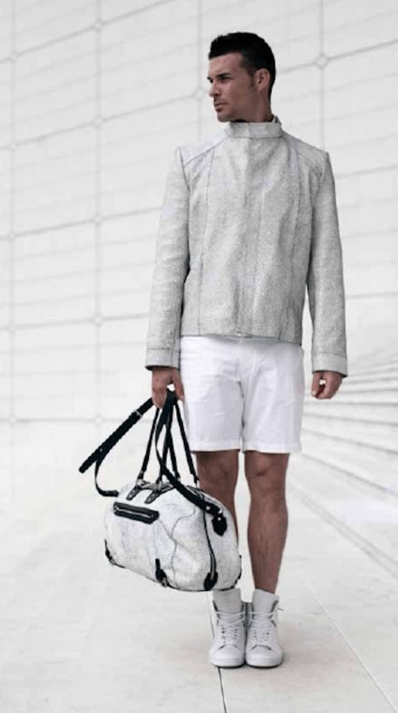 Look sportif, veste en cuir printemps/été 2015- crédits Sylvain Norget